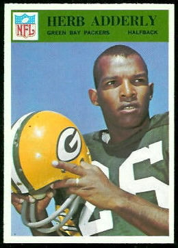1966 Philadelphia Herb Adderley football card