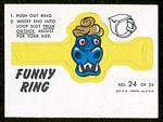 1966 Topps Funny Rings Mr. Blech