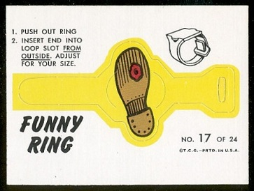 Hole in Sole 1966 Topps Funny Rings football card