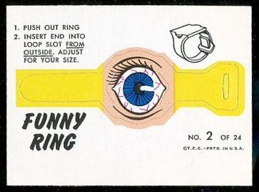Bloodshot Eye 1966 Topps Funny Rings football card