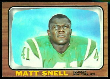 Matt Snell 1966 Topps football card