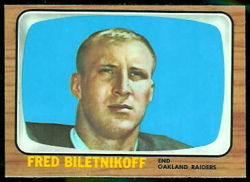 Fred Biletnikoff 1966 Topps football card