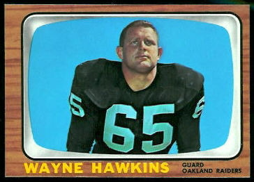 Wayne Hawkins 1966 Topps football card