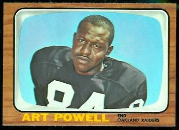 Art Powell 1966 Topps football card