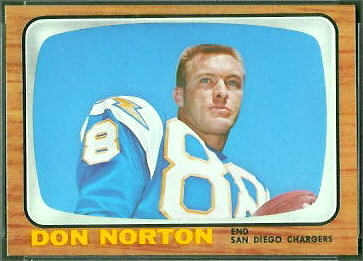 Don Norton 1966 Topps football card