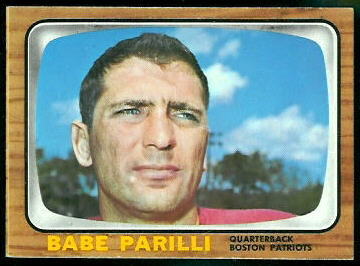 Babe Parilli 1966 Topps football card