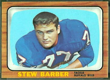 Stew Barber 1966 Topps football card