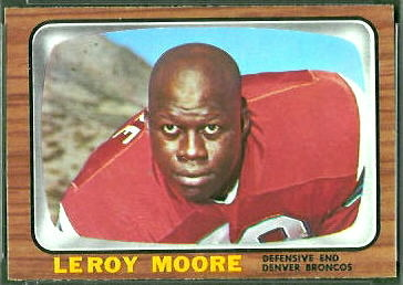 Leroy Moore 1966 Topps football card