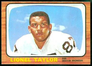 Lionel Taylor 1966 Topps football card