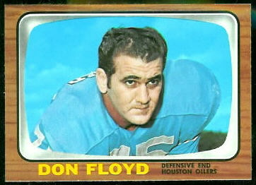 Don Floyd 1966 Topps football card