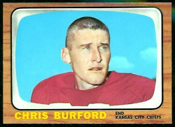 Chris Burford 1966 Topps football card