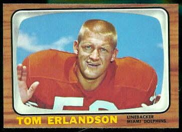 Tom Erlandson 1966 Topps football card