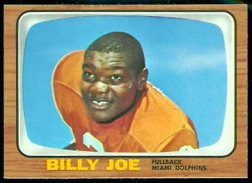Billy Joe 1966 Topps football card