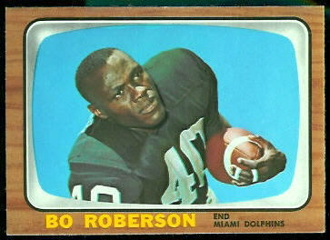 1966 Topps Bo Roberson football card