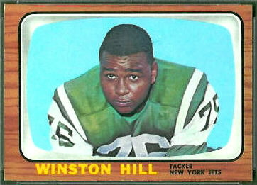 Winston Hill 1966 Topps football card