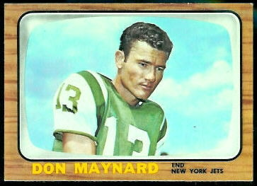 Don Maynard 1966 Topps football card