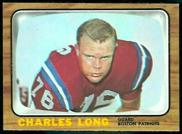 Charles Long 1966 Topps football card