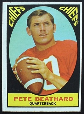 Pete Beathard 1967 Milton Bradley football card