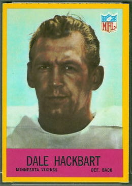 Dale Hackbart 1967 Philadelphia football card