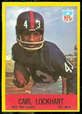 Spider Lockhart 1967 Philadelphia football card