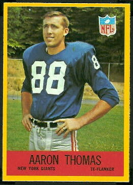 Aaron Thomas 1967 Philadelphia football card
