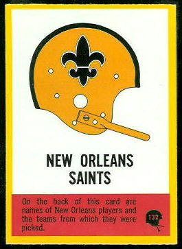 Saints Logo 1967 Philadelphia football card