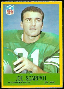 Joe Scarpati 1967 Philadelphia rookie football card