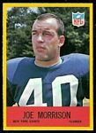 Joe Morrison 1967 Philadelphia football card