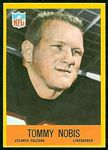 Tommy Nobis 1967 Philadelphia football card