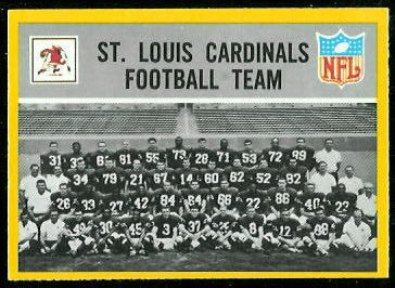 Cardinals Team 1967 Philadelphia football card