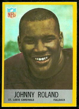 Johnny Roland 1967 Philadelphia rookie football card