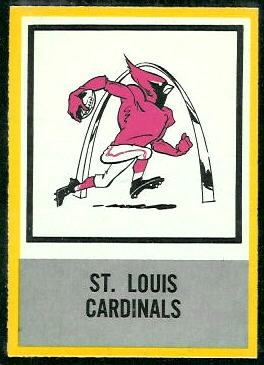 Cardinals Logo 1967 Philadelphia football card