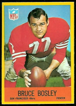 Bruce Bosley 1967 Philadelphia football card