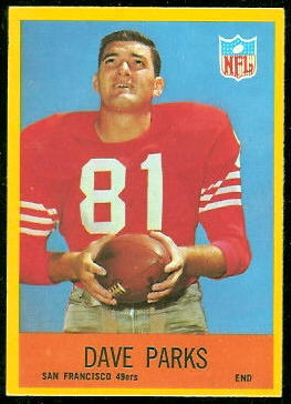 Dave Parks 1967 Philadelphia football card