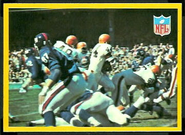Browns Play 1967 Philadelphia football card