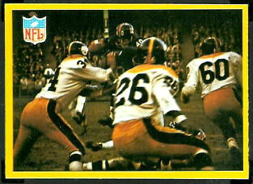 1967 Philadelphia New York Giants play football card