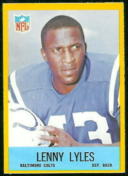 Lenny Lyles 1967 Philadelphia rookie football card