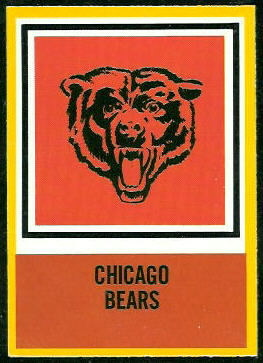 Bears Logo 1967 Philadelphia football card