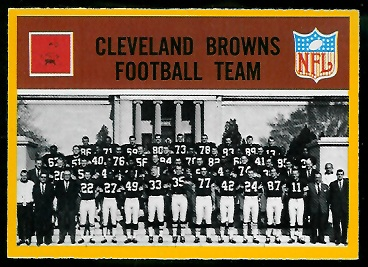 1967 Philadelphia Cleveland Browns team football card