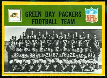Green Bay Packers Team 1967 Philadelphia football card