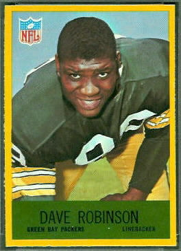 Dave Robinson 1967 Philadelphia football card
