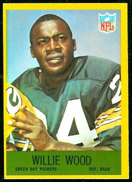 Willie Wood 1967 Philadelphia football card
