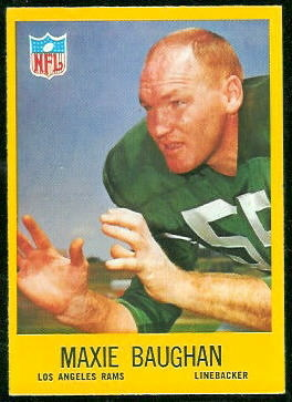 Maxie Baughan 1967 Philadelphia football card