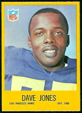 Deacon Jones 1967 Philadelphia football card