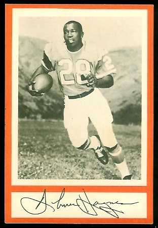 1967 Royal Castle Dolphins Abner Haynes football card