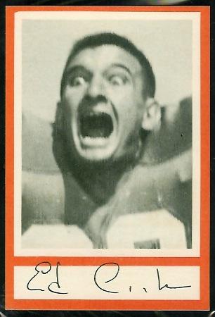 1967 Royal Castle Dolphins Ed Cooke football card