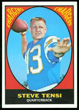 Steve Tensi 1967 Topps football card