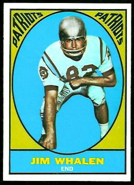Jim Whalen 1967 Topps football card