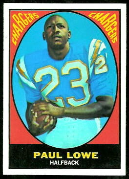 Paul Lowe 1967 Topps football card