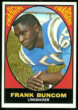 Frank Buncom 1967 Topps football card